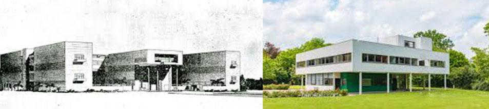 前川國男の東京帝室博物館コンペ画像とル・コルビジエのサヴォア邸