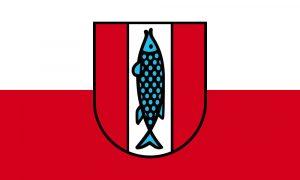 カイザースラウテルン市の勲章の魚マス(パイク)