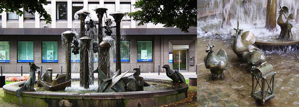 左:パピルスの噴水 右:エルベドルチェの噴水