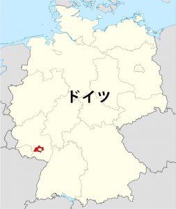 ドイツ内のカイザースラウテルン市の位置